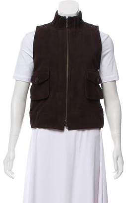 Robert Rodriguez Suede Zip-Up Vest