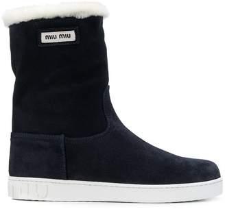 Miu Miu shearling snow boots