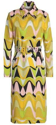 Printed Cotton-Blend Canvas Trench Coat