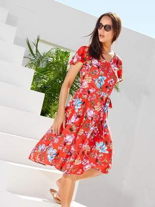 M&Co Floral print fit and flare dress