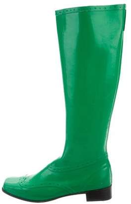 Sigerson Morrison Square-Toe Knee-High Rain Boots