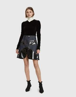 Ellery Vontz Denim Mini Skirt