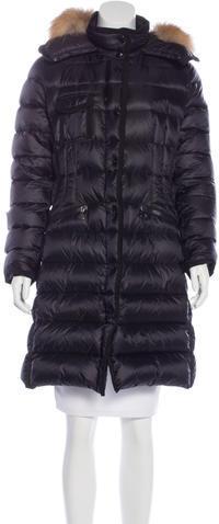 MonclerMoncler Hermifur Knee-Length Coat