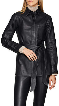 Boon The Shop Women's Belted Leather Top - Navy