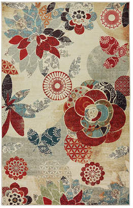 Mohawk Home Strata Geo Floral Pattern Printed Rectangular Rugs