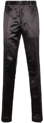 Calvin Klein Satin trousers with side stripe