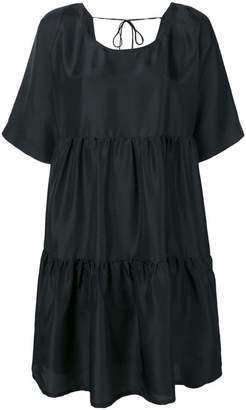 P.A.R.O.S.H. tiered short-sleeve dress