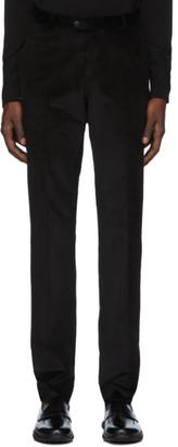 Ermenegildo Zegna Black Corduroy Trousers
