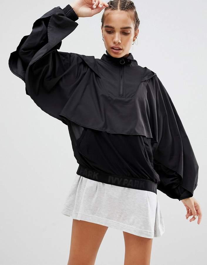 Ruffle Detail Jacket In Black