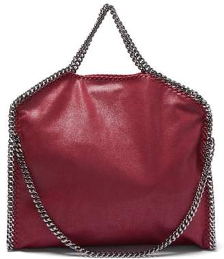 Stella McCartney Falabella Faux Leather Tote Bag - Womens - Burgundy