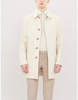 SLOWEAR Linen-blend polo shirt