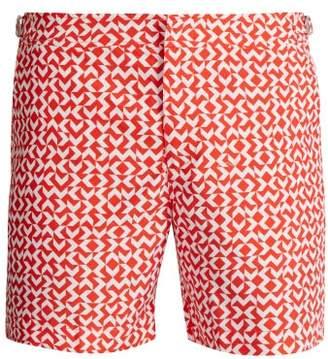 Orlebar Brown Bulldog Frecce Print Swim Shorts - Mens - Orange
