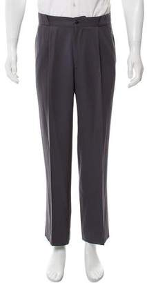 Gianni Versace Wool Flat Front Pants