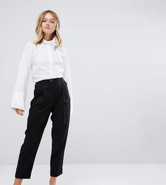 Monki High Waist Peg Leg Trousers