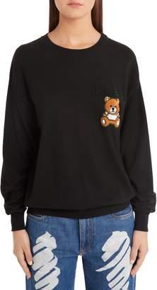 Moschino Embellished Teddy Sweater