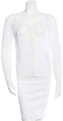 Marc by Marc Jacobs Long Sleeve Crotchet Sweater $65 thestylecure.com