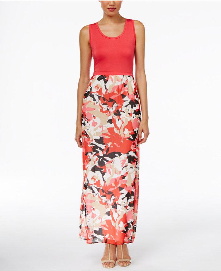 Calvin KleinCalvin Klein Printed Maxi Dress