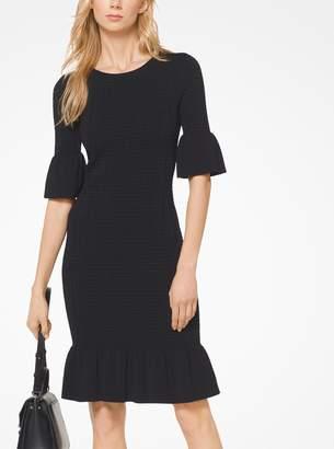 MICHAEL Michael Kors Stretch-Knit Bell-Cuff Dress