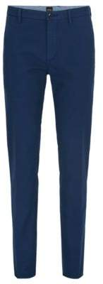 HUGO BOSS Cotton Chino Pant, Slim Fit Rogan D 34R Dark Blue