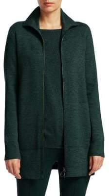 Akris Punto Long Knit-Melange Jacket