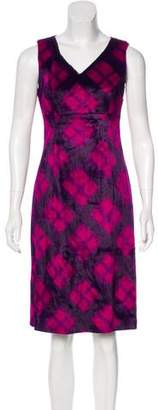 Philosophy di Alberta Ferretti Faux Fur Sleeveless Dress