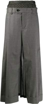Junya Watanabe layered palazzo suit trousers