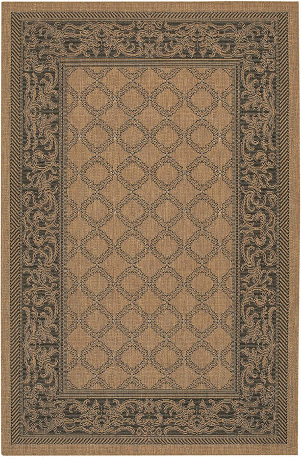 "Couristan Couristan Runner Rug, Indoor/Outdoor Recife 1016/2000 Garden Lattice Cocoa-Black 2'3"" x 11'9"""