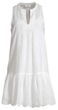 Vineyard Vines Pintucking & Eyelet Mini Dress