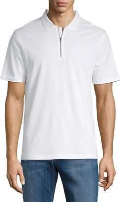 Vince Men's Zip Short-Sleeve Cotton Polo