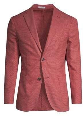 Boglioli Hopsack Wool-Blend Sport Jacket