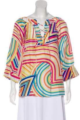 Emilio Pucci Silk Long Sleeve Top