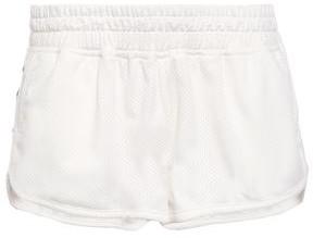 The Upside Striped Stretch-mesh Shorts