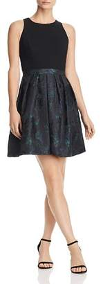 Aidan Mattox Floral Jacquard Dress