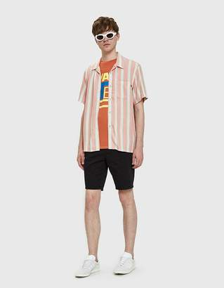Obey York Woven Shirt in Heather Coral