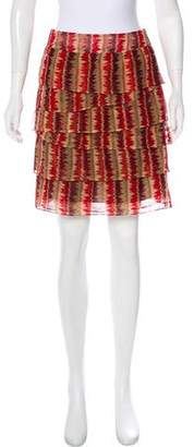 Anna Sui Ruffled Mini Skirt