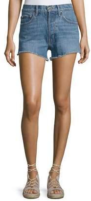 Derek Lam 10 Crosby Drew High-Rise Classic Vintage Jean Cutoff Shorts, Light Blue