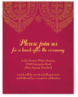 Anand Karaj Reception Cards
