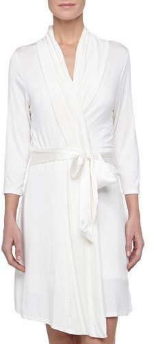 Fleurt Fleur't Take Me Away Travel Robe with Silk Inset Belt and Hidden Pockets