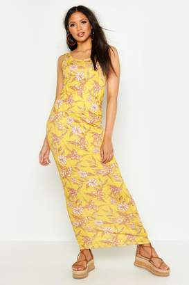 boohoo Tall Floral Print Maxi Dress