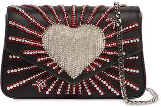 Les Petits Joueurs Ivy Heart Cupid Embellished Leather Bag