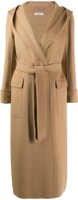 Max Mara hooded robe coat