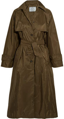 Shell Trench Coat - Army green