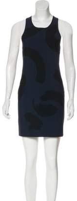 Celine Paint Stroke Print Mini Dress