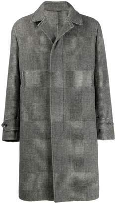 Caruso houndstooth midi coat