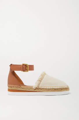 See by Chloe Leather And Canvas Platform Espadrilles - Neutral