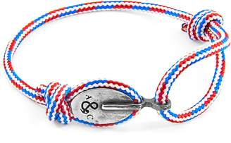 ANCHOR & CREW - Project-Rwb Red White & Blue London Silver & Rope Bracelet