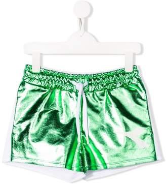Diadora Junior green and white shorts