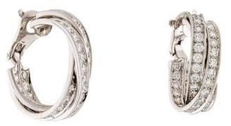 Cartier 5.50ctw Diamond Large Trinity Hoop Earrings