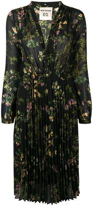 Semi-Couture Semicouture floral flared pleated dress