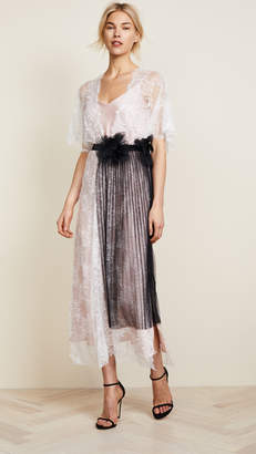 Loyd/Ford Lace Robe with Flower Belt